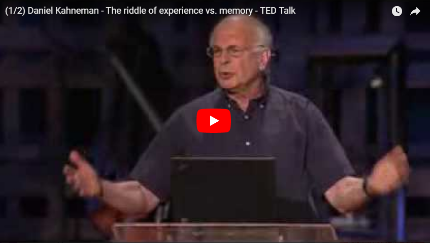 Daniel Kahneman - The riddle of experience vs. memory - TED Talk