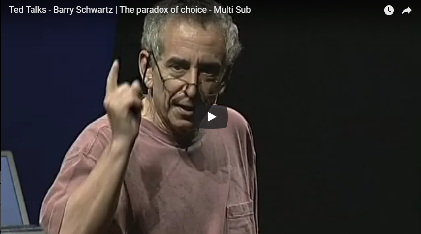 Barry Schwartz | The paradox of choice