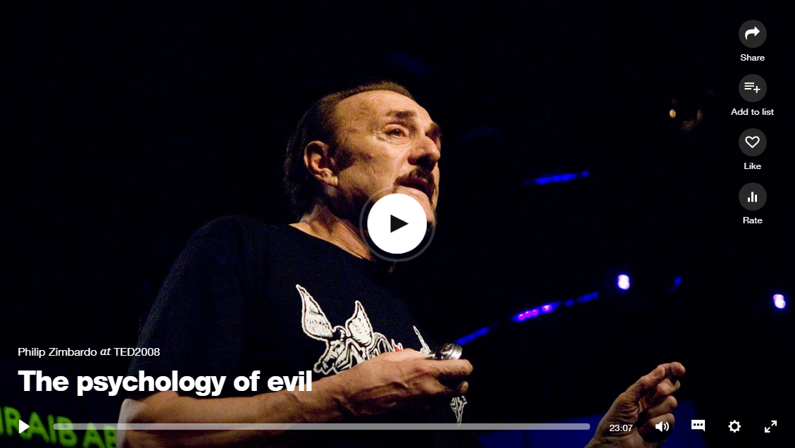 Psychology of Evil-Phil Zimbardo